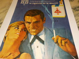 ANCIENNE PUBLICITE CIGARETTE DE DETENTE  HB 1966 - Raucherutensilien (ausser Tabak)