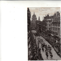 Londra To Arezzo Su Post Card The Royal Progress On Ludgate Hill 1915 - 1902-1951 (Re)