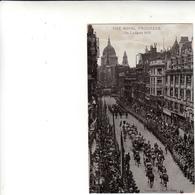 Londra To Arezzo Su Post Card The Royal Progress On Ludgate Hill 1915 - Storia Postale