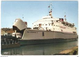 Zeebrugge - Car-Ferry / Auto Carrier Townsend - Free Enterprise II - Ship / Boat / Bateau / Schiff - Zeebrugge