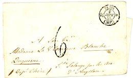 SEINE ENV 1855 3° PARIS 8 CACHET TAXE 30C + TAXE 6 LETTRE DOUBLE PORT - Marcophilie (Lettres)
