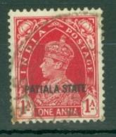 India - Patiala: 1937/38   KGVI 'Patiala State' OVPT  SG83    1a    Used - Patiala