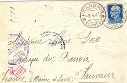1941- Busta Di FRASSINO Per La Francia )  Censure Italiane Y Tedesca - Storia Postale