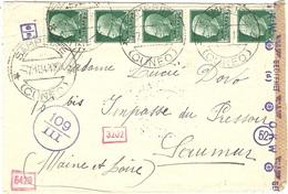 1941- Busta Di  SAMPEIRE  Per La Francia   Censure Italiane Y Tedesca - Storia Postale