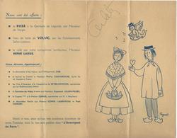 NUIT AVERNE-1957-DESSIN-PEYNET-PUB-SUZE-GENTIANE-VOLVIC-AUVERGNAT DE PARIS-BANQUET REGIONALISTE-TRIPOUS-LOT- - Menú
