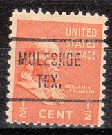 USA Precancel Vorausentwertung Preo, Locals Texas, Muleshoe 721 - Vereinigte Staaten