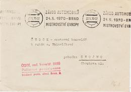 Tchekoslovaquie, De Brno En 1970, Thème Automobile TB - Tschechoslowakei/CSSR
