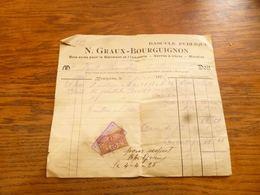 FF5  Document Commercial Bascule Publique Graux Bourguignon Momignies 1925 - Belgium