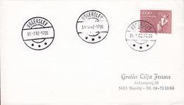 Denmark Deluxe Brotype IId UGGERSLEV 1982 Cover Brief Europa CEPT (Cz. Slania) Stamp SCARCE Cds. !! - Briefe U. Dokumente
