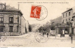 D95   SAINT LEU  TAVERNY   La Rue De Pontoise à L'Angle De L'Avenue De La Gare  .... ( Vue Peu Courante Avec La Buvette) - Saint Leu La Foret