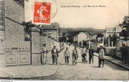 D95   SAINT LEU  TAVERNY   La Rue De La Mairie - Saint Leu La Foret