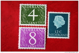 Goudazegels Gedrukt Op Fluorescerend Papier NVPH 774-776 1962 POSTFRIS / MNH / ** NEDERLAND / NIEDERLANDE - Period 1949-1980 (Juliana)