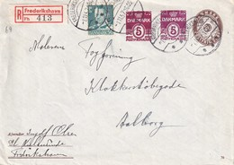DANEMARK 1957 LETTRE RECOMMANDEE DE FREDERIKSHAVN - Denemarken