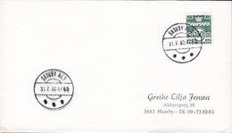 Denmark Deluxe Brotype IId SKOVBY ALS 1982 Cover Brief 150 Øre Wellenlinien Stamp - Briefe U. Dokumente