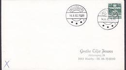 Denmark Deluxe Brotype IId SKELLEBJERG (***1) 1982 Cover Brief 150 Øre Wellenlinien Stamp SCARCE Cds. !! - Briefe U. Dokumente