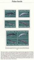 Palau 1983 WWF Naturschutz Wale Whale Blauwal Buckelwal Finnwal  (5496 - Sonstige