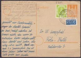 Ganzsache Bauten Posthorn Mif. 1952 Neuastenberg ü.Winterberg  (5590 - Briefmarken
