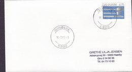 Denmark Deluxe GIROBANK 1992 Cover Brief 4.75 Kr. Geschirr Stamp - Dänemark