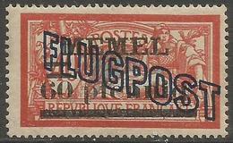 Memel (Klaipeda) - 1921 Merson FLUGPOST Overprint (pfennig) 60pf/40c MLH *   Mi 40II  Sc C1 - Memel (1920-1924)