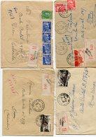 PAS De  CALAIS De CALAIS   4 Env. Recom. De 1949 à 1951     Avec Dateur  A 6 Et  A 7 - Postmark Collection (Covers)
