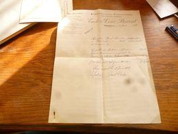 FF5  Document Commercial Facture  Emile & Victor Bricout Marcinelle Exploitations Forestières 1929 - Belgium