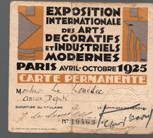 Paris EXPOSITION DES ARTS DECORATIFS 1925 .. Carte Permanente Illustrée En Couleurs   (PPP14468) - Pubblicitari