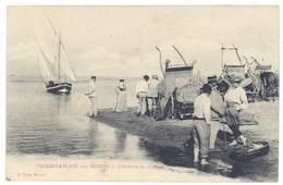 Cpa Valras La Plage - L'attente De La Pêche - France