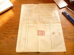 FF5  Document Commercial Facture  Produits Réfractaires Et Grès Cérame Bourlers 1922 - Belgium