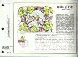 CEF N° 972 . CROIX - ROUGE FRANCAISE .  SOIERIE DE LYON . 18 NOVEMBRE 1989 . LYON . - FDC