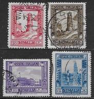 Italia Italy 1932 Somalia Pittorica 4val Sa N.171,173,175,177 US - Somalia