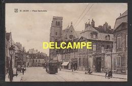 DF / 21 CÔTE D' OR / DIJON / PLACE EMILE-ZOLA / TRAMWAY AVEC PUB CHOCOLAT MENIER - Dijon