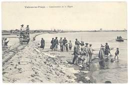 4 Cpa Valras La Plage - Construction De La Digue, Hôtel Fourestié, Châlet Laugé , Retour De La Pêche - France