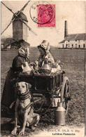 C1910 Molen En Fabriek In Zelzate Hondenkar ( Attelage De Chien, Dogcart ) LAITIERES Flamandes E. G. Serie 2 Nr 129 MELK - Zelzate