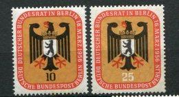 8181  ALLEMAGNE BERLIN  N°121/2 *  Réunion Du Conseil Fédéral à Berlin      1956  TB - Neufs