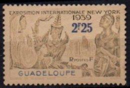 GUADELOUPE - 2 F. 25 New York Gris Au Lieu D'outremer - Neufs