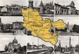 CARTE PHOTO GLACEE - MOSELLE - ANNEE 1957- - Autres Communes