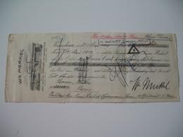 Document Fiscaux Perforé Perfin     C 2  Crédit Lyonnais  1912 - Fiscaux