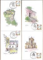 Italia - Serie Complete Di 10 Cartoline Maximum Dalle Quali Sono Stati Tratti Gli Annulli Postali - 1993 - Cartoline Maximum