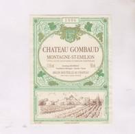 ETIQUETTE VIN BORDEAUX CHATEAU GOMBAUD 1996! - Bordeaux