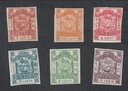 British North Borneo 1/2 + 1 + 2 + 3 + 8 + 10 Cent Nuovi Linguellati Tranne 8 Cent Senza Gomma   Cod.FRA.1130 - Francobolli