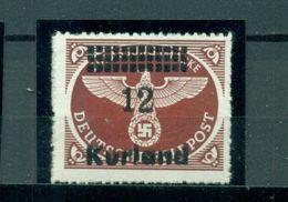 Deutsches Reich / Besetzungen. Aufdruck Kurland Auf D. Reich. Mi.-Nr. 4 Postfrisch **, Geprüft BPP - Besetzungen 1938-45