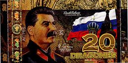 El Club De La Moneda  20 Dragones 2015  Polymer Série Les Personnages Historiques  Joseph Staline UNC - Fictifs & Spécimens