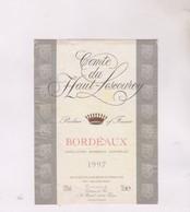 ETIQUETTE VIN BORDEAUX 1997! COMTE DU HAUT LESCOUREY - Bordeaux
