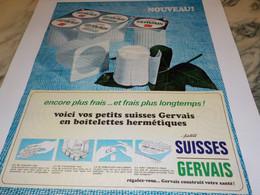 ANCIENNE AFFICHE PUBLICITE PETITS SUISSES  DE GERVAIS  1966 - Posters