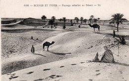 SCENES ET TYPES-PAYSAGE SAHARIEN AU DESERT - Sahara Occidentale