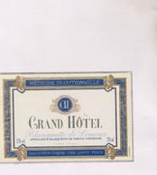 ETIQUETTE VIN BLANQUETTE DE LIMOUX GRAND HOTEL! - Vin De Pays D'Oc