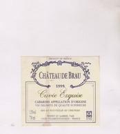 ETIQUETTE VIN CHATEAU DE BRAU 1995!! - Vin De Pays D'Oc