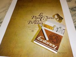 ANCIENNE PUBLICITE LA PLUS CHERE DES BRUNES  CIGARETTE FONTENOY 1966 - Tabac (objets Liés)