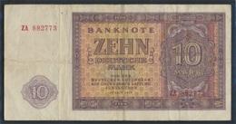 DDR Rosenbg: 350b KN 6stellig, Austauschnote Gebraucht (III) 1955 10 Deutsche Mark (9223262 - [ 6] 1949-1990 : RDA - Rep. Dem. Alemana