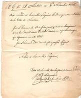 2370/ Louvain 6/11/1818 Lettre D'un Commissaire De Police Aux Nobles,Seigneurs,Bourgmestre Et Echevins Stad  Leuven - Documents Historiques